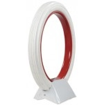 "30x3-1/2"" Universal Clincher All White Ribbed"