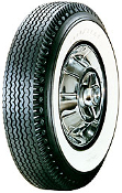 "670-15 Goodyear Super Cushion Deluxe 2-11/16"" Whitewall"