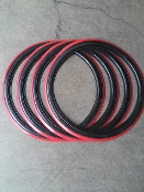 "14""x 1/2"" Red Stripe Portawall Set"