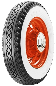 "650-16 Goodyear Deluxe All Weather 4"" Whitewall"