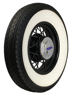 "750-19 Bedford 4"" Double Whitewall"