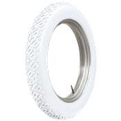 30x3 Firestone Non Skid All White